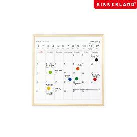 ホワイトボードカレンダー L 34×34cm キッカーランド KIKKERLAND White Board Calendar L