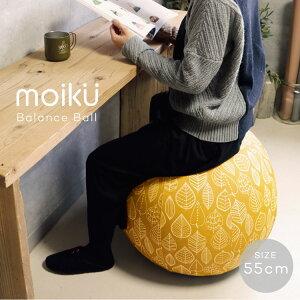 モイク バランスボール 55cmサイズ ストレッチボール チェア 椅子 moiku Balance Ball グローバルアロー カバー付 洗濯可能 ダイエット 健康 デスクワーク リラックス ギフト インテリア 北欧 デザ