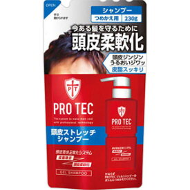 PRO TEC 頭皮ストレッチ シャンプー つめかえ用  230g[配送区分:A]