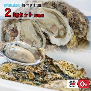牡蠣 冷凍 カキ かき 貝 かい 2021年 新物 殻付き 真牡蠣 瀬戸内産 2キロ 産地直送 バーベキュー BBQ 加熱用