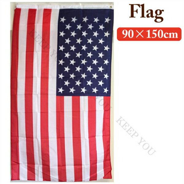 フラッグ タペストリー 約90×150cm U.S.A アメリカ国旗【アメリカン雑貨 インテリア雑貨 バーグッズ 】 ┃