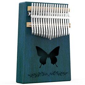 カリンバ 17キー 初心者向け C 調 親指ピアノ マホガニー木素材 新作 ナチュラル 音調調節可能 チューナーハンマー 収納ケース付き フィンガーピアノ きれい 人気 音楽 学習 誕生日プレゼント クリスマス 子供 敬老