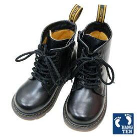 ハンテン ブーツ キッズ 男の子 編み上げブーツ 黒 HANGTEN キッズレースアップブーツ「ブラック」 16 17 18 19 20 21 22 23cm