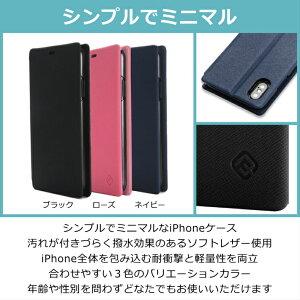 40siPhoneXSiPhoneX手帳型ソフトレザーフリップケースQi対応スタンド機能カードポケットワイヤレス充電Qi対応軽量薄型シンプルおしゃれ手帳ブラック/ローズ/ネイビースマホケースiPhoneケース