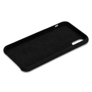 iPhoneXRケース耐衝撃衝撃吸収シリコン薄型軽量ジャケットQi対応シンプルおしゃれスマホケース赤黒40s