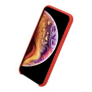 iPhoneXS/Xケース耐衝撃衝撃吸収シリコン薄型軽量ジャケットQi対応シンプルおしゃれスマホケース赤黒40s