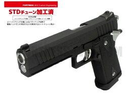 弾速アップ&3カ月保証 STDカスタム施工済み! 東京マルイ ハイキャパE 電動ハンドガン本体 カスタム即納品 (4952839175144) AEP エアガン 18歳以上 サバゲー 銃 Hi-CAPA FORTRESS