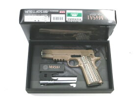 【中古】東京マルイ:ガスハンドガン :M45A1 CQB PISTOL メタルアウターバレル 18歳以上 サバゲー 銃