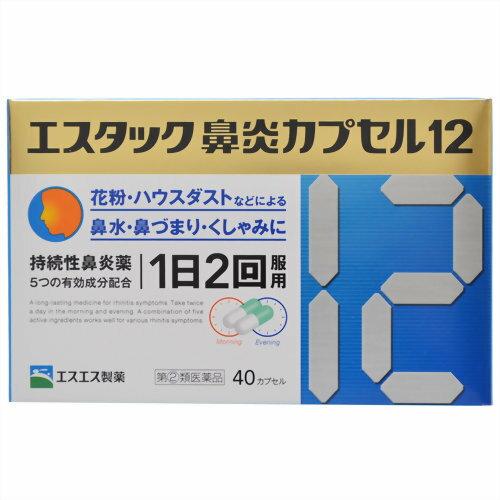 【第(2)類医薬品】エスタック鼻炎カプセル12 40カプセル [【2個セット・メール便(送料込)】※代引・日時・時間・同梱は不可]
