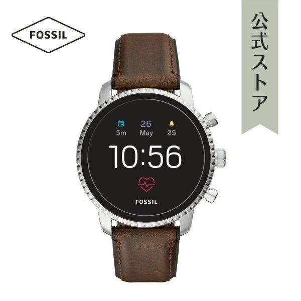 【P最大17倍/〜24日】『ホワイトデー ラッピング用品プレゼント』2018 秋の新作 ジェネレーション4 フォッシル タッチスクリーン スマートウォッチ 公式 2年保証 Fossil Smartwatch 腕時計 メンズ エクスプローリースト FTW4015 EXPLORIST HR