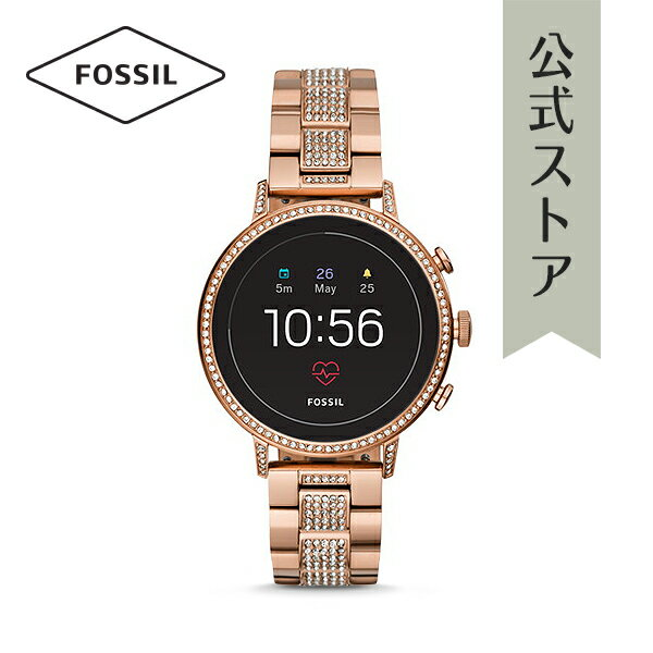 [イベント中] イヤホン プレゼント! 2018 秋の新作 ジェネレーション4 フォッシル タッチスクリーン スマートウォッチ 公式 2年保証 Fossil Smartwatch 腕時計 レディース ベンチャー FTW6011 VENTURE HR