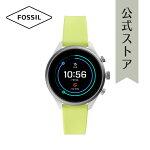 \\先着10名様にビーチタオルプレゼント!//『父の日公式ショッパープレゼント』フォッシルタッチスクリーンスマートウォッチ公式2年保証FossilSportSmartwatch腕時計レディースFTW602841mm