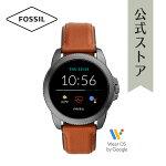2020冬の新作フォッシルスマートウォッチタッチスクリーンメンズFOSSIL腕時計FTW4055公式2年保証