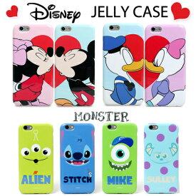 【在庫一掃激安価格】送料無料 ディズニー JELLY CASE Disney ペアケース iPhone6S ケース iPhone6 ケース iPhone6S Plus ケース iPhone6 Plus ケース 全8種 ミッキー ミニー ドナルド デイジー スティッチ マイク サリー エイリアン iphoneケース