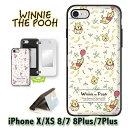 【フィルムプレゼント(iPhone7+/8+を除く)】プーさん pooh WINNIE THE POOH ディズニー カード収納ミラー付ケース iphoneXS ケース iph…