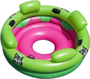 大型浮き輪 Swimline 9056 インフレータブルプールフロート 浮き輪大人用 乗れる浮き輪 ボート 海 プール 水遊び 夏おもちゃ アメリカ輸