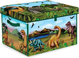 ジップビン ZipBin 恐竜コレクターおもちゃ箱 恐竜のフィギュア2匹付 A1081X4 収納ボックス