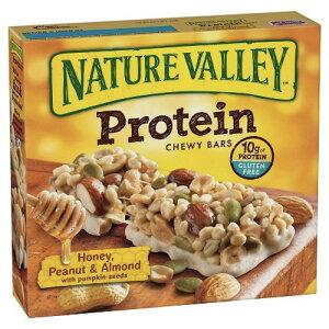 ネイチャーバレー プロテインバー ハニー ピーナッツ アーモンド 5本入り Nature Valley Honey Peanut Almond Protein Bars