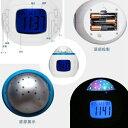 目覚まし時計 おしゃれ 大音量 子供 光 置時計 温度計 デジタル プラネタリウム 投影 時計 オルゴール 4way