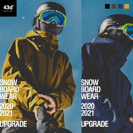 43DEGREES スノーボードウェア スキーウェア メンズ ジャケット パンツ 上下 セット スノボウェア スキー スノーボード ウェア スノボ スノボー ウエア レディース Peak Jacket & Hang Pants 2020-21