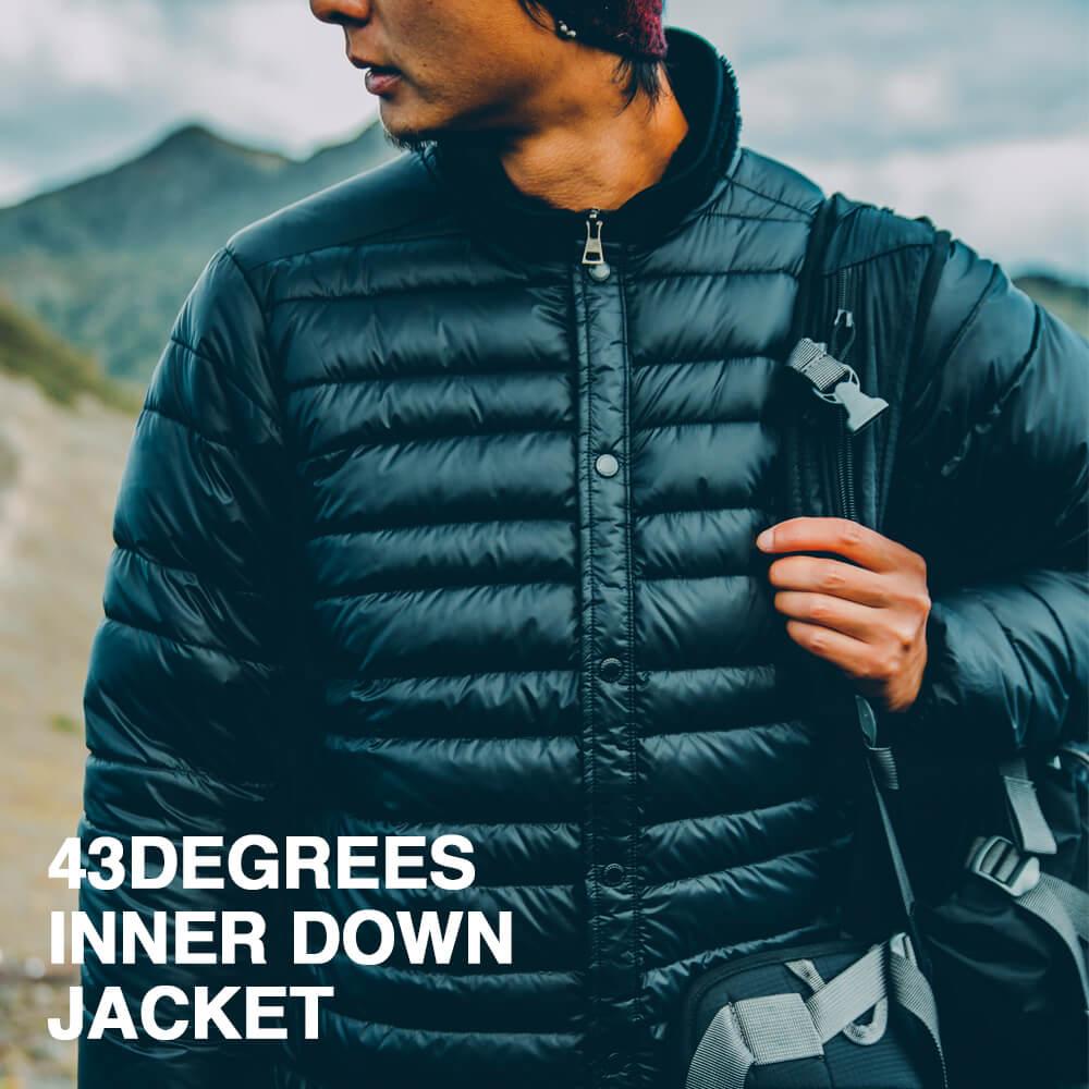 インナーダウン ジャケット 43DEGREES メンズ レディース ダウンジャケット