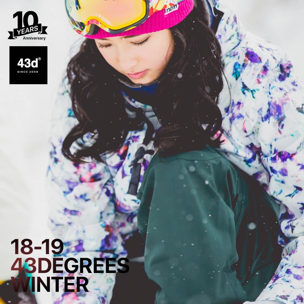 【予約商品】スノーボードウェア 43DEGREES スキーウェア 上下セット レディース 2018-2019モデル 新作 パターンジャケット+ストレッチ ビブパンツ セット スノボウェア スノーボード ウェア スノボ スノボー ウエア