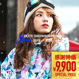 【キャッシュレス5%還元対象】スノーボードウェア レディース スキーウェア 上下 セット DLITE 新作 スノボウェア スノーボード ウェア スノボ ボード 2019-2020モデル ウェア 19-20