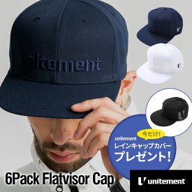 【レインカバー付き】ゴルフ キャップ メンズ レディース unitement 6Pack Flatvisor Cap キャップ 帽子 GOLF ゴルフウェア ゴルフ ユナイトメント