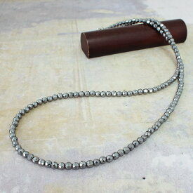 【在庫処分値下げ】 ネックレス レディース テラヘルツ 鉱石 4mm ミラーカット ラウンド 60cm デザイン ネックレス チョーカー 天然石 パワーストーン//