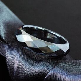 【高純度99.99%】 テラヘルツ ミラーカット 鉱石 くり抜き リング 指輪 天然石 パワーストーン 男女兼用