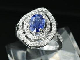 【鑑別書付】2ct サファイア アントラージュ リング ロイヤルブルー K18GP 9月誕生石 指輪 大きいサイズ 17号 19号誕生日 プレゼント サファイヤ