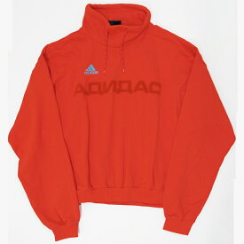 adidas×Gosha Rubchinskiy Red cotton Adidas printed hoodie スウェット サイズ:M カラー:レッド【中古】【インポート】【鈴鹿 併売品】【122-180720-05AS】
