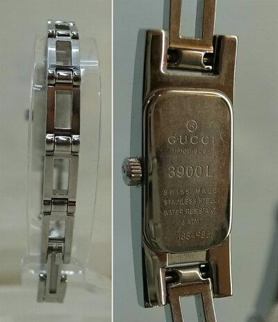 GUCCI(グッチ)3900LダイヤベゼルL'sクオーツSS【中古】【時計】【鈴鹿併売品】【1410225LS】