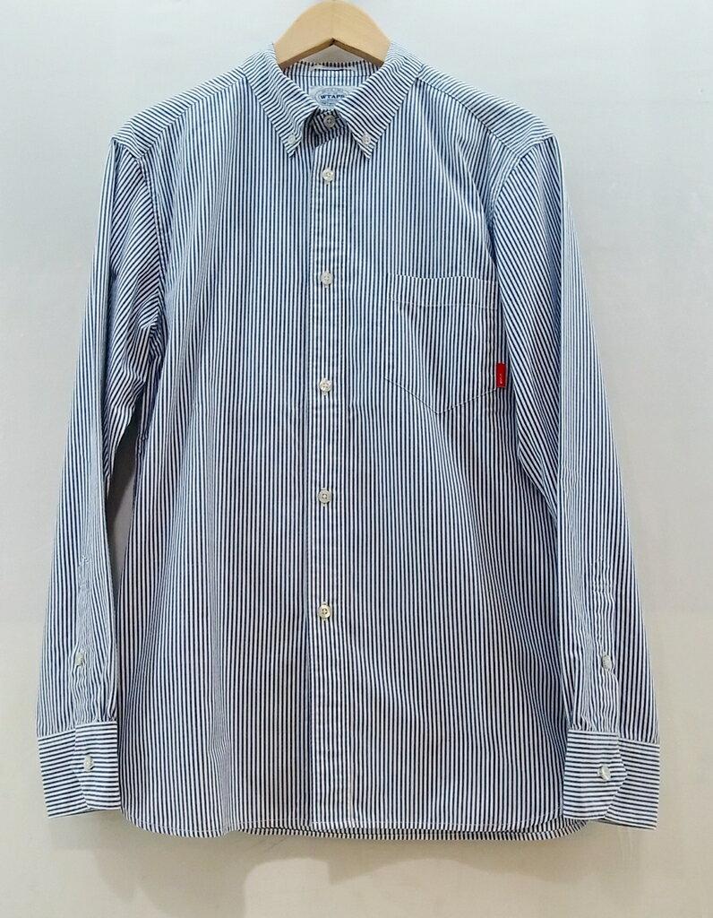 WTAPS (ダブルタップス) L/S ストライプシャツ サイズ:M カラー:ブルー【中古】【ルード】【鈴鹿 併売品】【1273004OS】