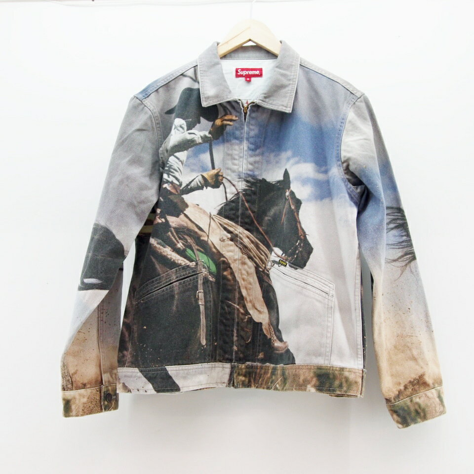 Supreme (シュプリーム) Cowboy Denim Jacket サイズ:M カラー:グレー【中古】【ストリート】【鈴鹿 併売品】【126-170809-01OS】