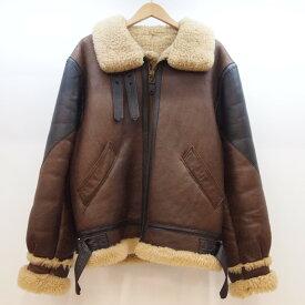 GOLDEN BEAR(ゴールデン ベア) B-3 ムートン ボンバージャケット サイズ:38 カラー:ブラウン【中古】【128 アメカジ】【鈴鹿 併売品】【128-190401-04OS】
