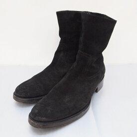 BUTTERO(ブッテロ) スエードサイドジップブーツ B825 サイズ:41 (26cm) カラー:ブラック【中古】【140 その他靴】【鈴鹿 併売品】【140-190514-06OS】
