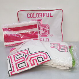 E-girls(イー ガールズ) COLORFUL WORLD ツアージャージ Tシャツ フェイスタオル  サイズ:S カラー:ピンク・ホワイト【中古】【132 レディーストップス】【鈴鹿 専売品】【132-190606-01OS】