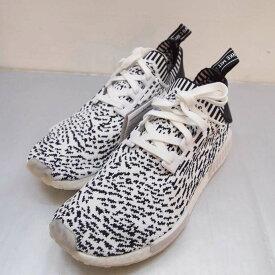 adidas(アディダス) NMD_R1 PK BZ0219 エヌエムディー プライムニット サイズ:10(28cm) カラー:ブラック・ホワイト【中古】【139 スニーカー】【鈴鹿 併売品】【139-200104-08OS】