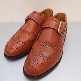 Tricker's (トリッカーズ) モンクストラップ ウィングチップシューズ サイズ:25.5cmカラー:ブラウン【中古】【140 その他靴】【鈴鹿 併売品】【140-200617-04OS】