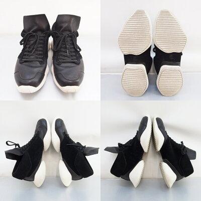 adidas×RickOwens(アディダス×リックオウエンス)RUNNERランナーS74570サイズ:9(27cm)カラー:ブラック【中古】【スニーカー】【鈴鹿併売品】【139-180831-07OS】