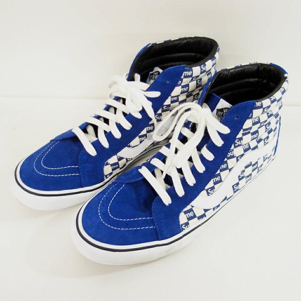 Supreme (シュプリーム)×VANS Sk8-Hi Reissue Pr Checkers カラー:Blueサイズ:30cm 【中古】【スニーカー】【鈴鹿 併売品】【139-180205-02BS】