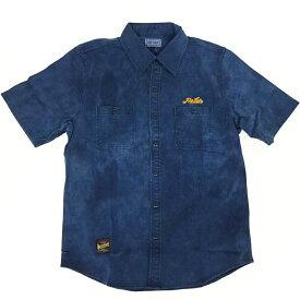 ローター ROTAR Dye color s/s Work shirt rt1734025 サイズ:L カラー:52.D.L.BLUE【中古】【ストリート】【鈴鹿 併売品】【126-190428-04BS】