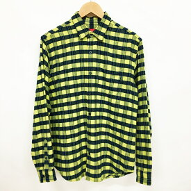 Supreme (シュプリーム) フランネルチェックシャツ サイズ:S カラー:イエローグリーン【中古】【ストリート】【鈴鹿 併売品】【126-190708-02AS】