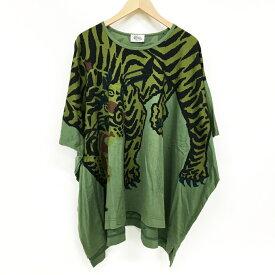 Vivienne Westwood MAN ファイティングタイガー エレファントTシャツ サイズ:FREE グリーン【中古】【インポート】【鈴鹿 併売品】【122-200820-01BS】