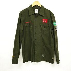 uniform experiment ユニフォームエクスペリメント ミリタリーシャツ サイズ:3 カラー:オリーブ【中古】【125 DM】【鈴鹿 併売品】【125-190704-05LS】