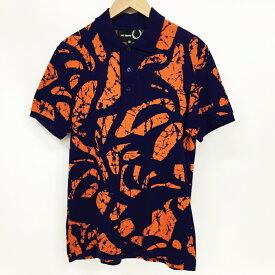 FRED PERRY×RAF SIMONS ポロシャツ  カラー:パープル・オレンジ サイズ:38【中古】【122 インポート】【鈴鹿 併売品】【122-200730-02GS】