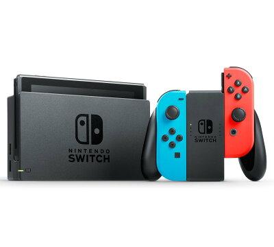 NintendoSwitchJoy-Con(L)ネオンブルー/(R)ネオンレッド【中古】【Switch本体】【四日市併売品】【062-180206-03my】