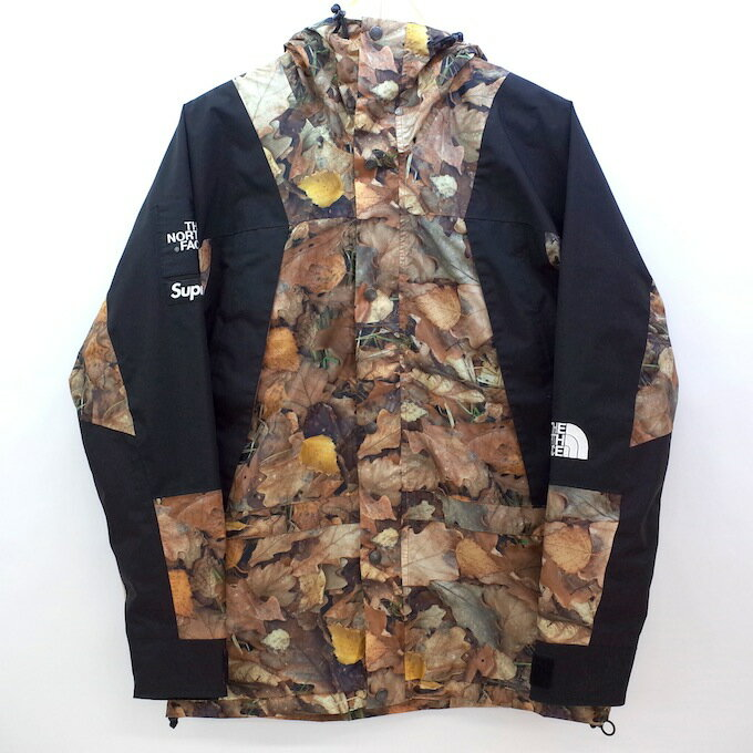 SUPREME×THE NORTH FACE 【SIZE:S】16AW Mountain Light Jacket Leaves NP51601I マウンテンライトジャケット ブラウン 枯葉 落ち葉 リーブス リーフ シュプリーム ノースフェイス【中古】【ストリート】【四日市 併売品】【126-181114-01mH】