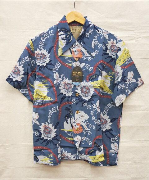 Sun Surf KEONI OF HAWAII Bird of Paradise Aloha Shirt M32172 サンサーフ ケオニオブハワイ バードオブパラダイス アロハシャツ サイズ:S カラー:11(BLUE系)【中古】【アメカジ】【四日市 併売品】【128-170723-03TH】